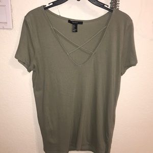 Forever 21 army green shirt